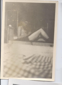 This is my dad in his bunk in Germany writing a letter to my mom.