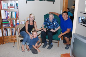 Me, Daddy, Tara, and Hunter. The four generations. This was taken a few months before Daddy passed away.